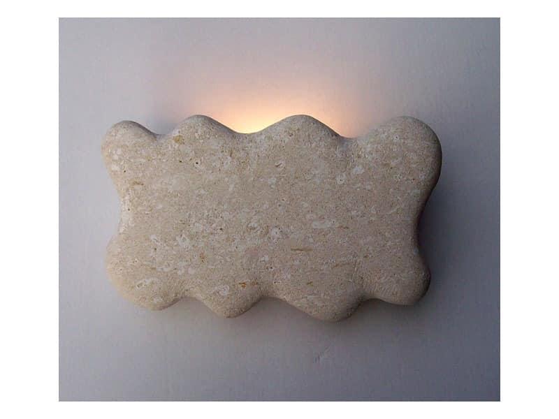 Nuvola, Applikation Lampe aus weißem Stein Vicenza gemacht