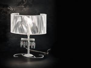 Onda Tischlampe, Tischleuchte mit Diffusor aus Kohlefaser