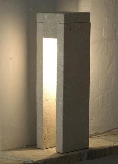 Oso, Stehlampe aus Stein, Glühlampenlicht gemacht