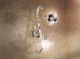 Rose applique, Wandleuchte mit Diffusoren in Form von rosa, für Wohnzimmer
