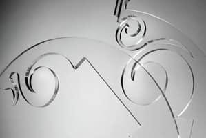 Sphera Kronleuchter, Moderne Hängelampe mit Elementen aus Plexiglas