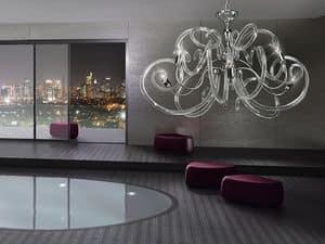 Vanity chandelier, Messingleuchter, wollüstigen Formen der Glasdiffusoren