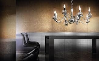 Varsailles chandelier, Kronleuchter mit 8 Leuchten, dekoriert Blatt Details