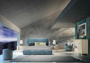 Ares II Art. A20001_A20006, Modernes gepolstertes Bett