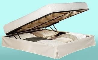 Aladdin Double, Doppelbett mit Metallkopfteil, mit Container