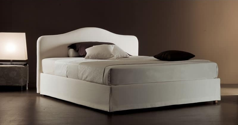 Ariel, Moderne Bett mit gepolstertem Kopfteil gesteppte Polyurethan