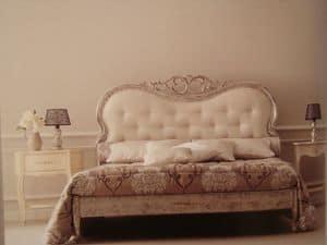 Art. 967, Klassisches Doppelbett für das Schlafzimmer, geschnitzt