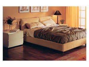 Bedroom 12, Gepolsterte Bett, in abnehmbarer Alcantara bezogen, für Wohn- Schlafzimmer