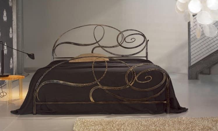 Capriccio, Schmiedeeisernes Bett, Spiral elliptische Gestaltung