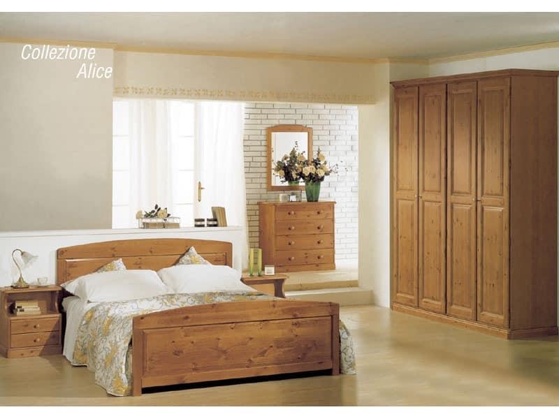 Collection Alice Double Bed, Die Holzbetten für Chalets und rustikalen Hotels