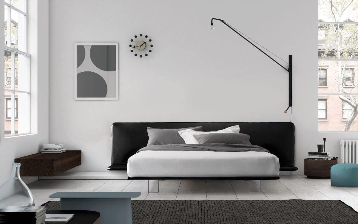 Filo bed, Mit Polsterrahmen, Methacrylat Füßen Bett