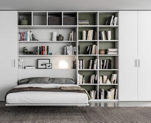 FILO space saving, Raumsparende Garderobe mit ausziehbarem Doppelbett