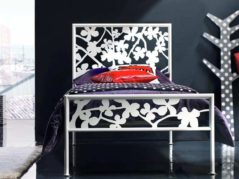 Flower Einzelbett, Einzelbett mit Eisen Kopfteil, für Sleeping-Zone