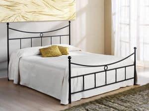 Gabbiano Doppelbett, Bett mit Kopfteil Eisen, f�r Hotels und Wohnungen