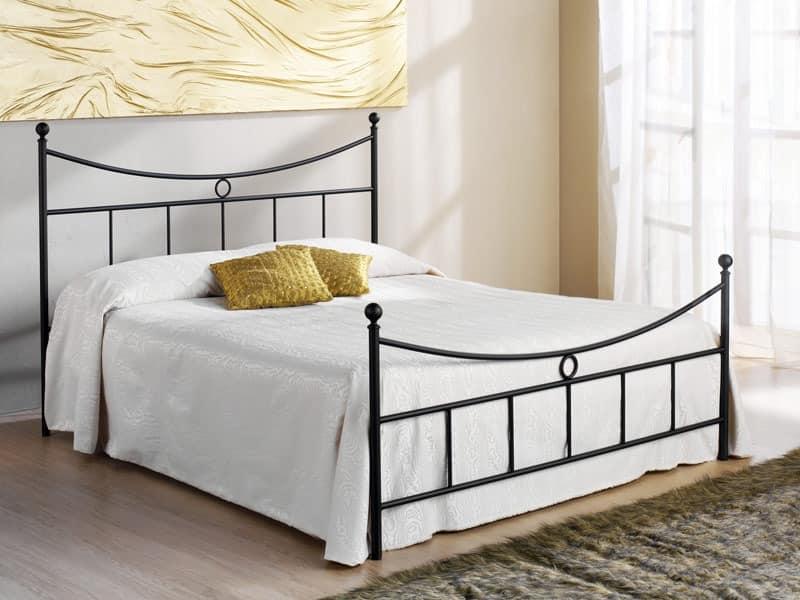 Gabbiano Doppelbett, Bett mit Kopfteil Eisen, für Hotels und Wohnungen