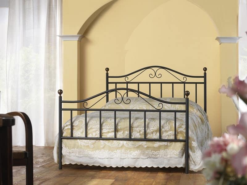 Giulia 120, Klassisches Bett in Eisen, für traditionelle Schlafzimmer