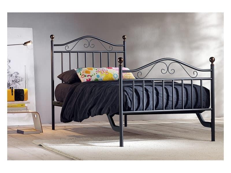 Giulia Einzelbett, Eisen handgefertigten Betten für Hotel Room
