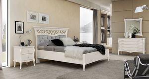 MONTE CARLO / Bett, Modernes klassisches Bett mit Capitonnè Kopfteil
