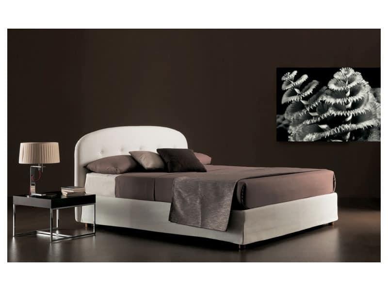 Moon, Bett mit Polyurethanschaum und Dacron gepolstert