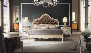 R67 / Bett, Bett mit kostbaren Handwerk Dekorationen