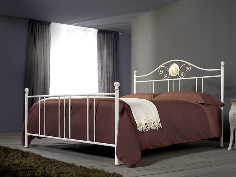 Romanza, Eisen handgefertigten Bett für klassische Zimmer