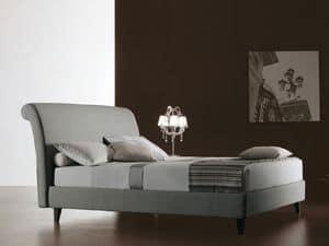 Royal, Bed bedeckt im Gewebe, für Wohnzwecke