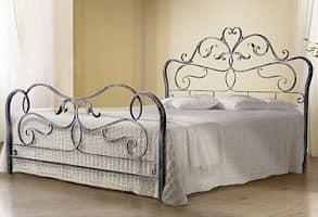 Rubens, Doppelbett aus Schmiedeeisen, Antik-Finish