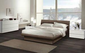 Schlafzimmer 13, Die Möbel für die Schlafzimmer, Holzbett mit modernem Design