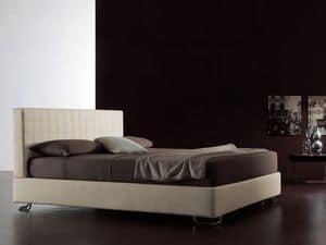 Tender, Moderne Bett, gesteppten Kopfteil, für Schlafzimmer