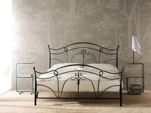 Venus, Bett im verjüngten Eisen, Schmiedeeisen Dekorationen
