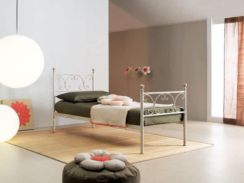 Vienna single bed, Einzelbett im Art Nouveau Stil, für elegante Hotels