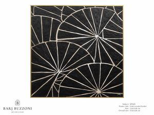 Black parasol – MT 609, Geometrische Malerei