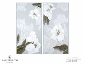 Delicate flowers I-II – MT 389-390, Blumenbild mit Basrelief-Effekt