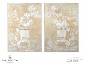 Delicate orient feeling I-II – MT 391-392, Malerei mit niedrigem Reliefeffekt
