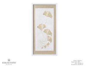 Gingko biloba ina a cool breeze - MT370-1, Tastendes Kunstwerk mit Basrelief-Effekt