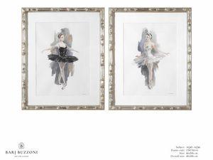 L'Etoile - The ballet dancer - AQ45 - AQ46, Aquarellmalerei mit Tänzer