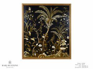 Lush exotic nature – H 3554, Auf Leinwand gemalt, mit exotischer Natur