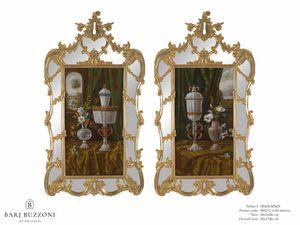 Murano goblet recollection – SP 428-429, Ölgemälde mit Spiegelrahmen