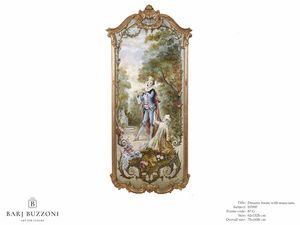 Romantic frame with musician – H 3597, Ölgemälde im klassischen Stil