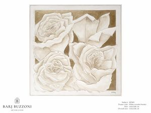 Roses, golden dream – MT 491, Bild mit Rosen, Basrelief-Effekt