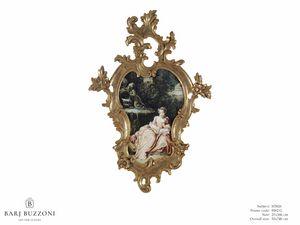The expectation – H 3826, Gemälde mit prächtig geschnitztem Rahmen