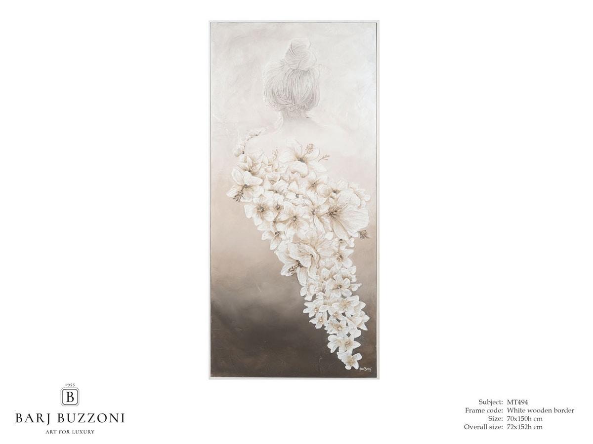 The scent of woman – MT 494, Moderne Malerei mit niedrigem Reliefeffekt