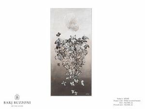 The woman fantasy – MT 495, Zeitgenössische Malerei mit Schmetterlingen