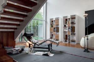 ABACO, Bücherregal aus Holz, modular, für Wohnzimmer