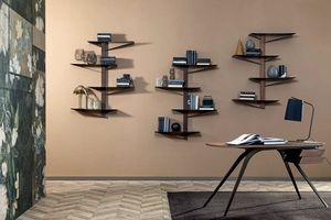 ALBATROS  libreria, Bücherregal mit Regalen aus lackiertem Metall und Holzstruktur