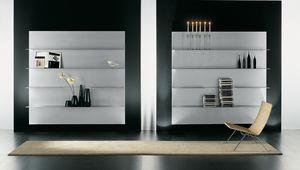 ALL comp.02, Zusammensetzung der Regale für das moderne Haus, in Aluminium
