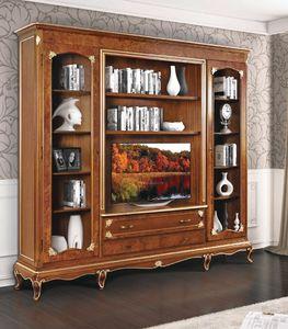 Art. 3002, Klassisches Bücherregal mit TV-Ständer