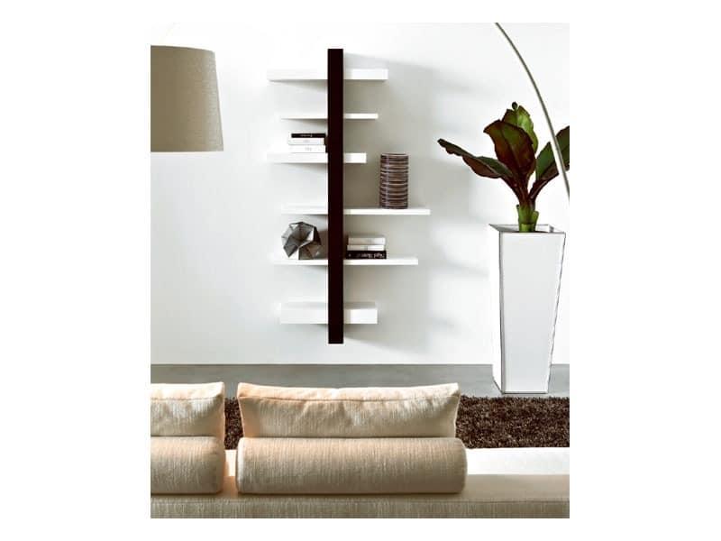 ART. 750 EMOTION, Wand Bücherregal aus Holz, zum Outlet-Preis