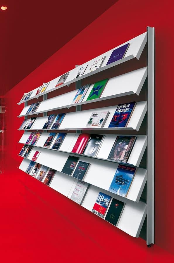 Big wall unit with floor support, Bibliotheken Regal Büro-und Objektbereich