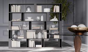 BRERA comp.02, Bifacial Bibliothek für Wohnbereich, hohe Bauform
